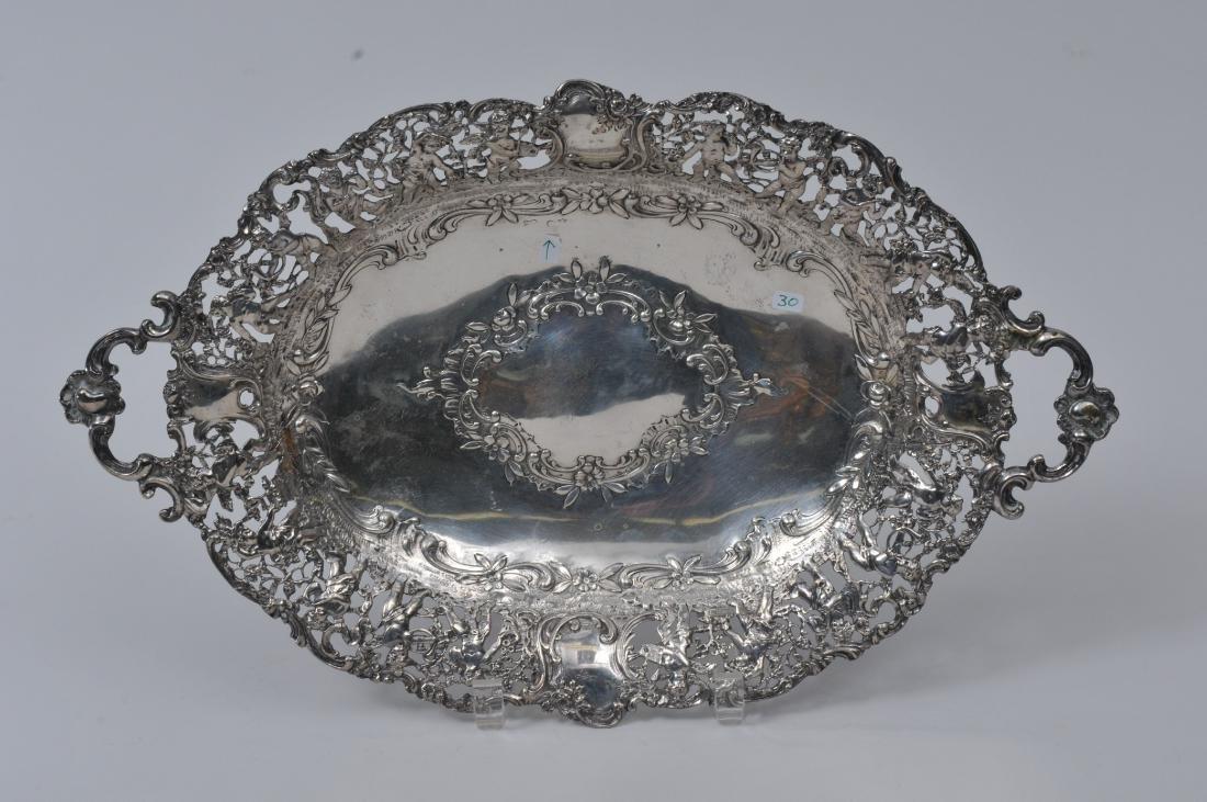 Continental Silver intricate pierced figural design