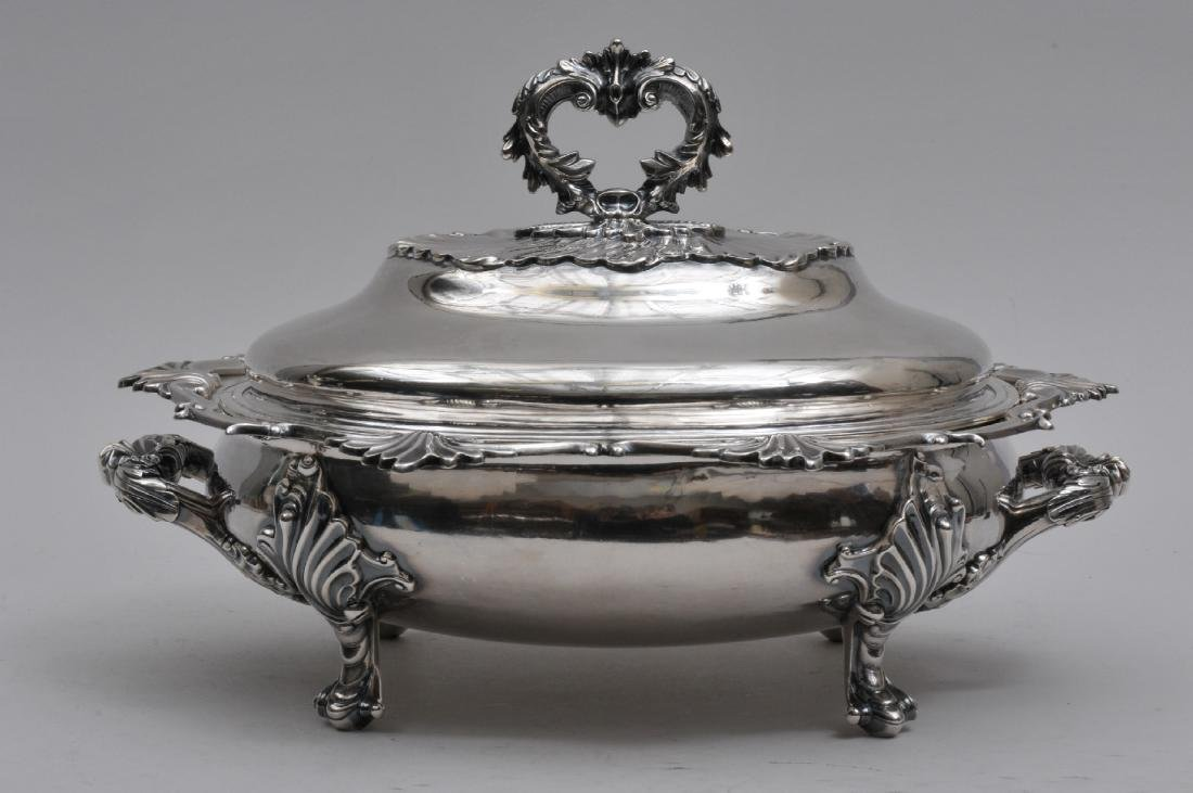 Bailey and Kitchen Coin Silver large covered serving