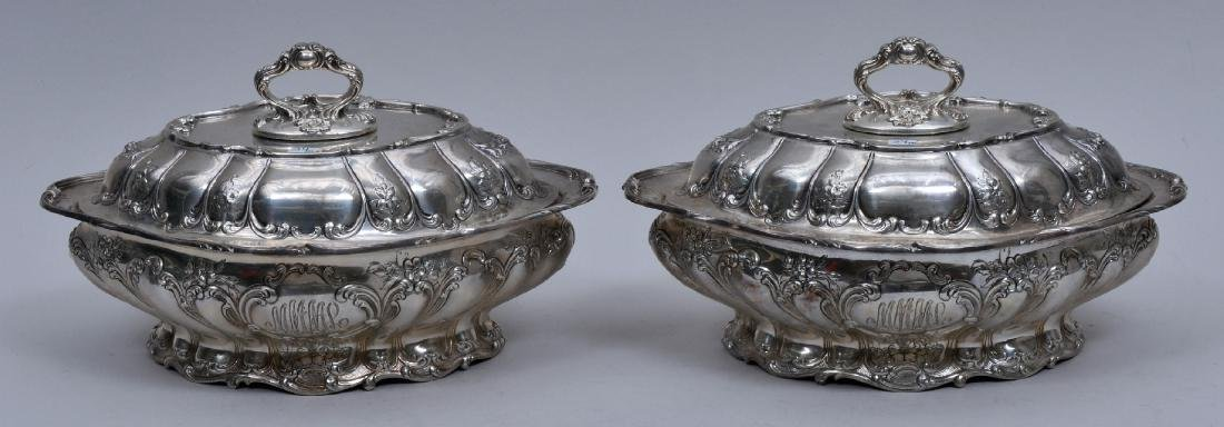 Pair of Gorham Sterling Silver covered vegetable