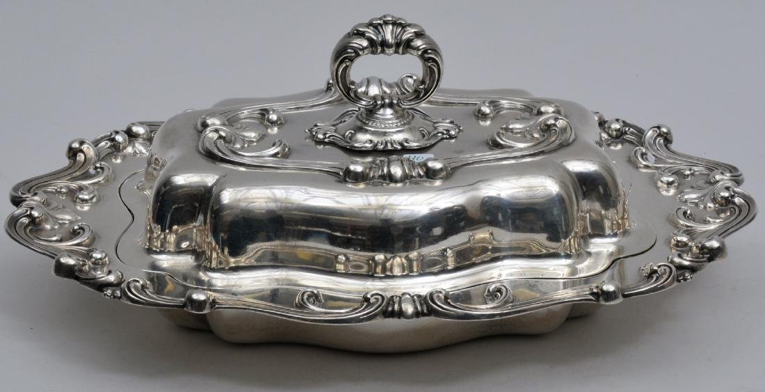 Wallace Sterling Silver covered serving dish with