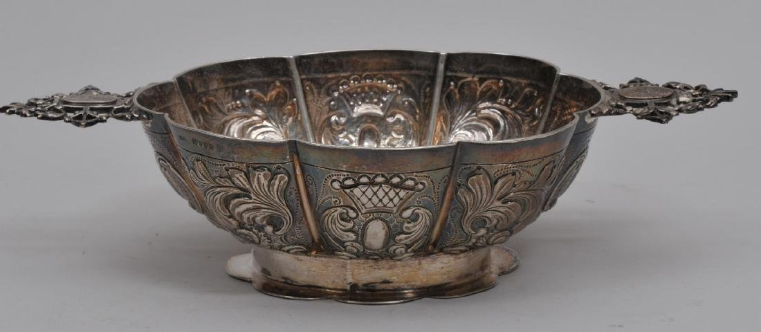 19th century Continental silver ornate repousse two
