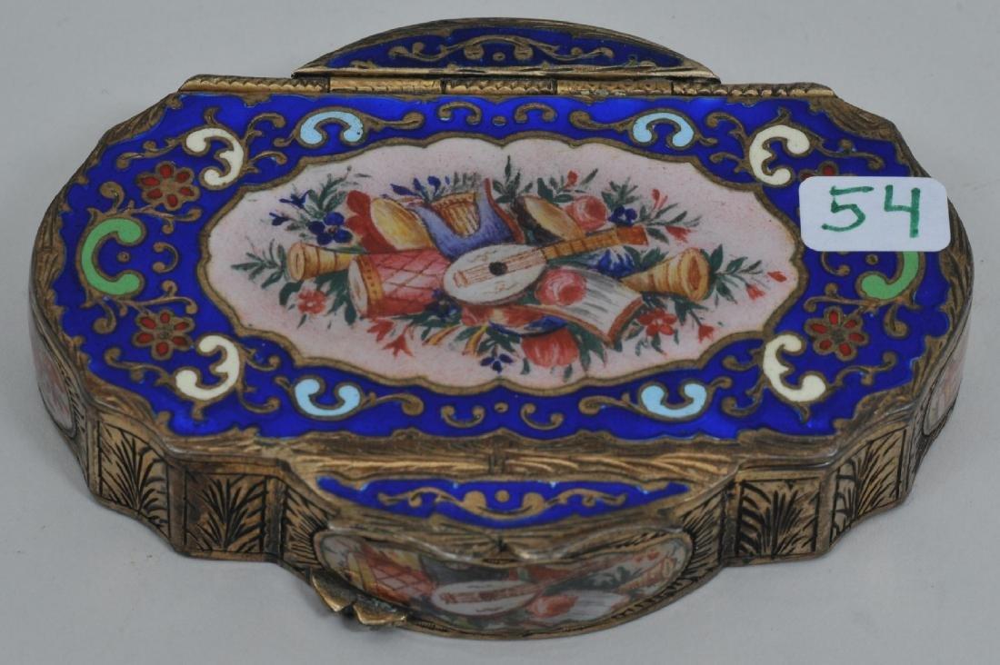 Fine quality 19th century gilt .800 silver enamel