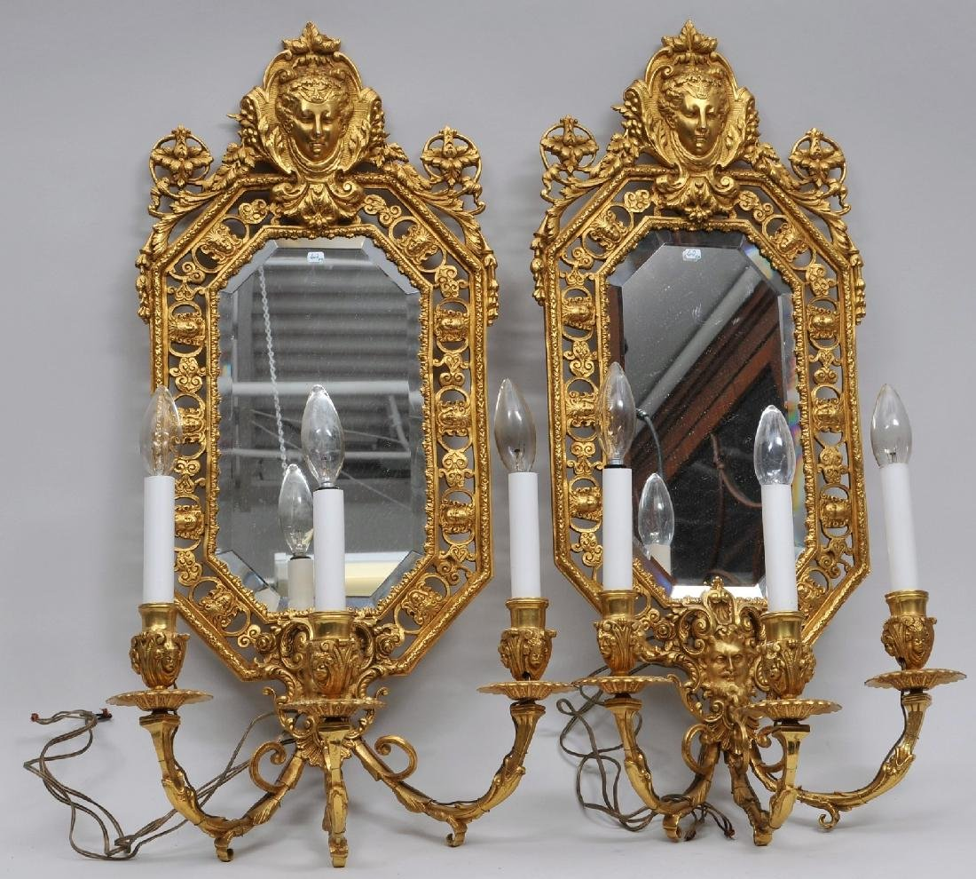 Pair of fine quality gilt bronze 19th century French