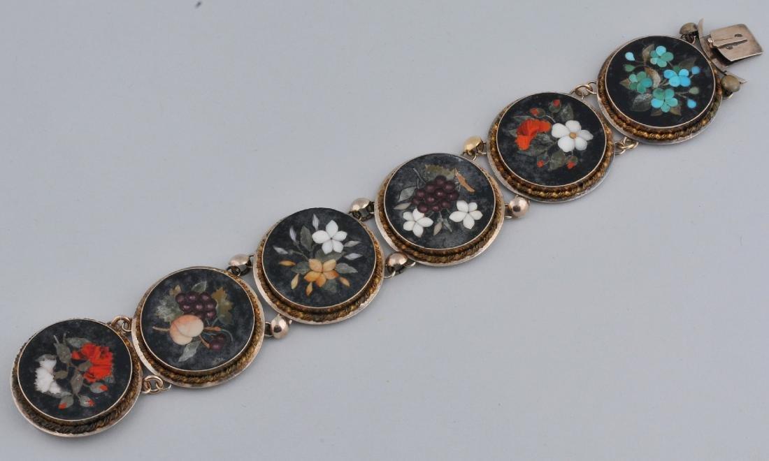 19th century Victorian Italian Micro Mosaic medallion
