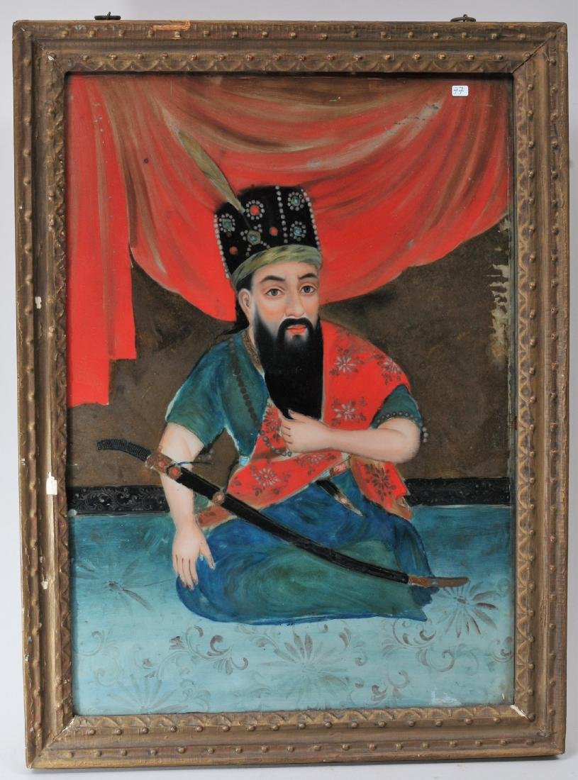 19th century Chinese Export Reverse Glass painting for