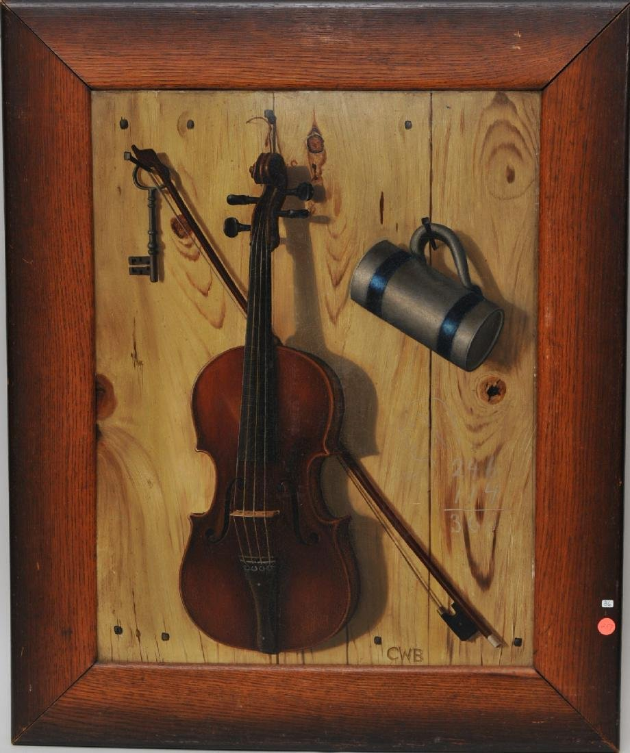 19th century American School Tromp L'oile still life