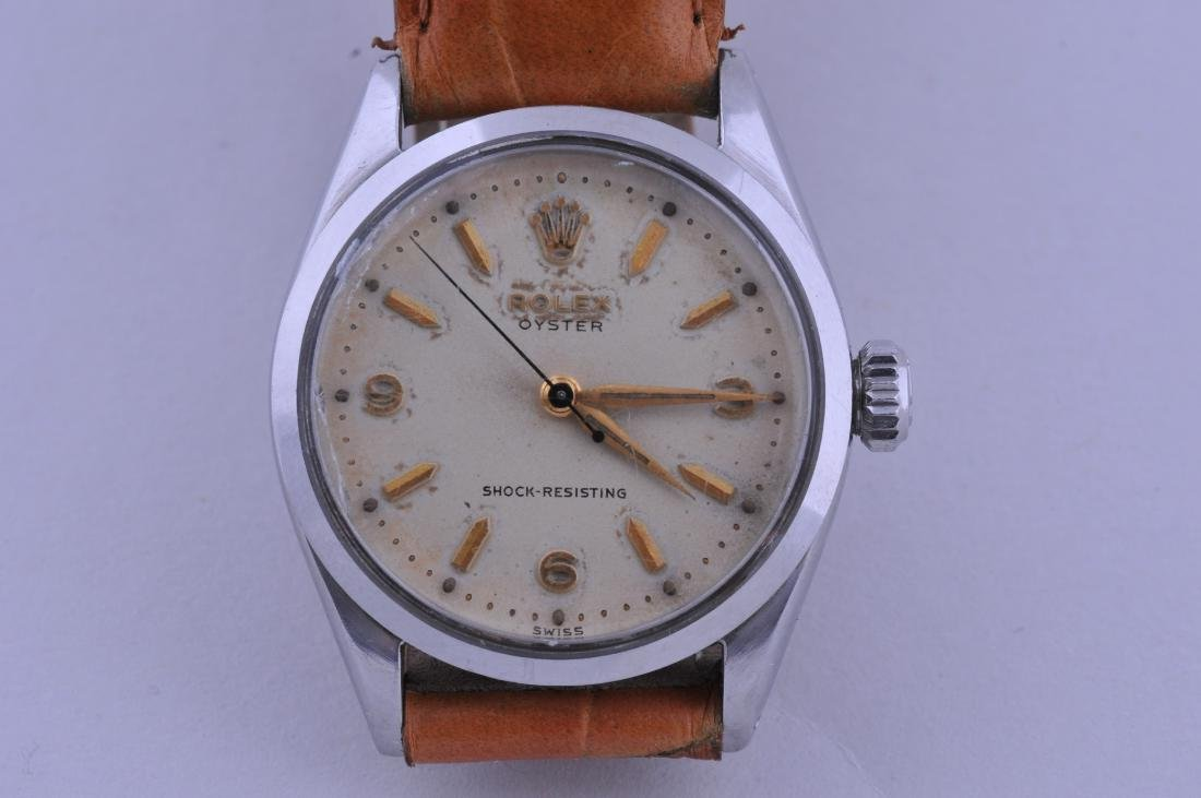 Rolex Oyster, early 1950's. Stainless Steel case, with
