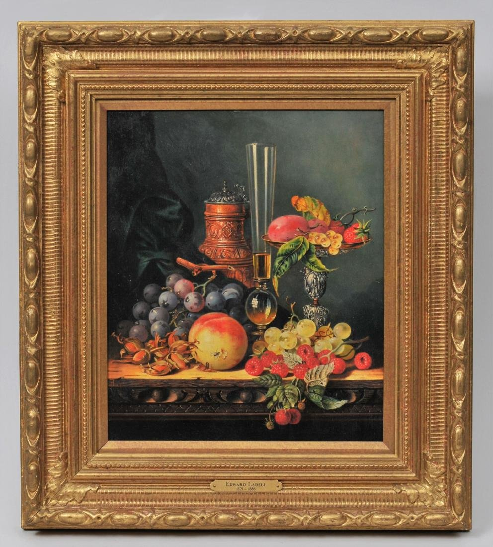 Edward LaDell. Table top Stillife painting with
