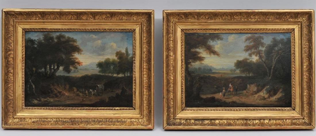 Pair of 18th/19th century Old Master landscape