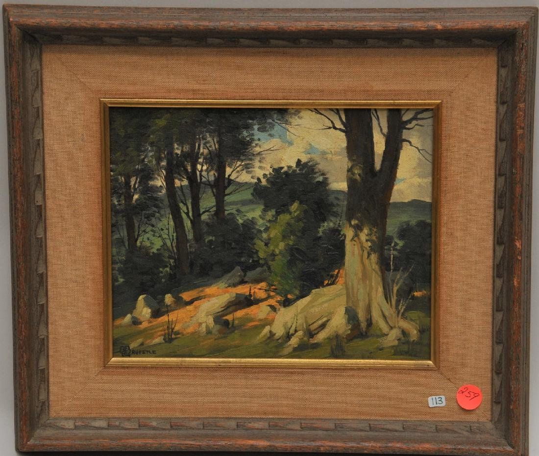 Bertram George Bruestle. Spring time landscape