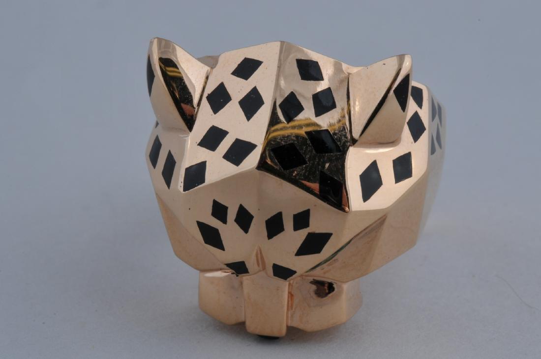 Original Cartier 18k gold Leopard head ring - Size 10