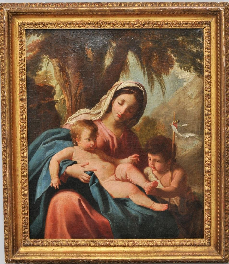 18th/19th century Italian Old Master painting. Madonna