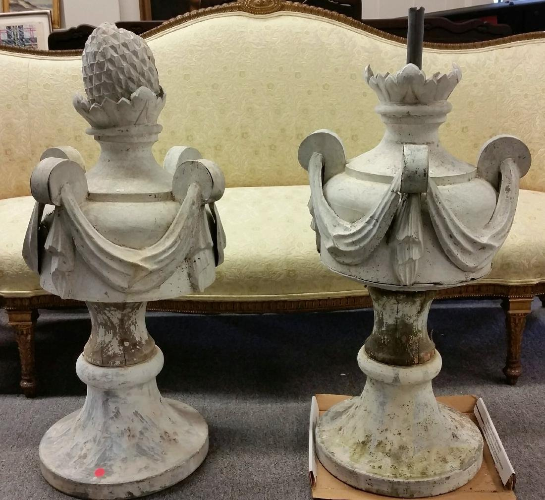 Pair of 19th century zinc and wood Architectural garden