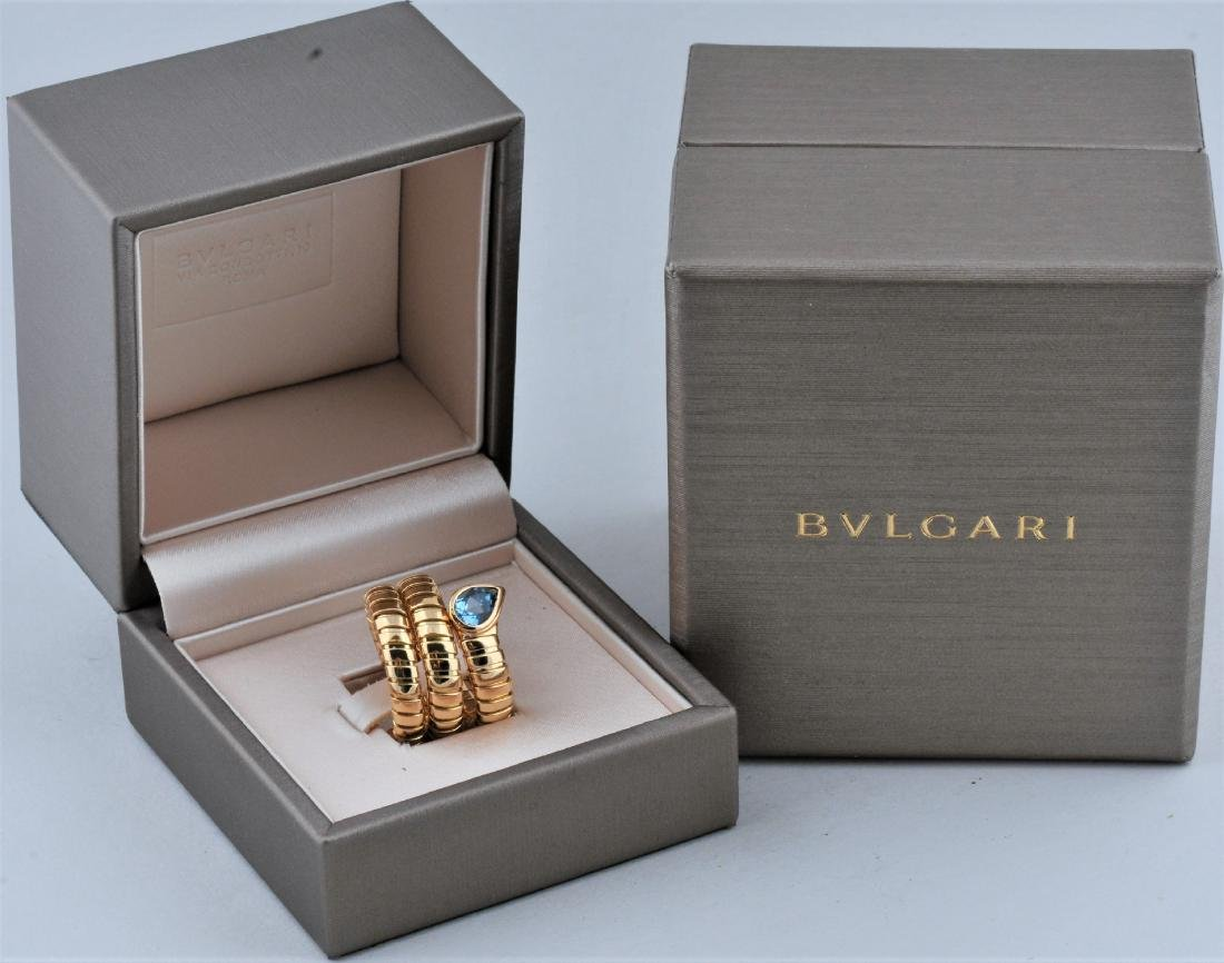 Bulgari Tubogas Serpentine Flexible Ring. 18k yellow