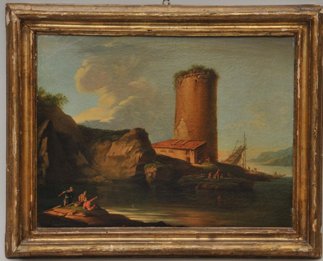 Early 19th century Italian Old Master seascape with