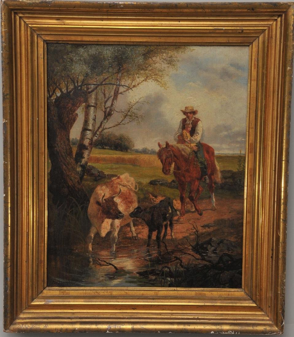 John W. Ehninger. 1858. Outdoor genre scene of a man
