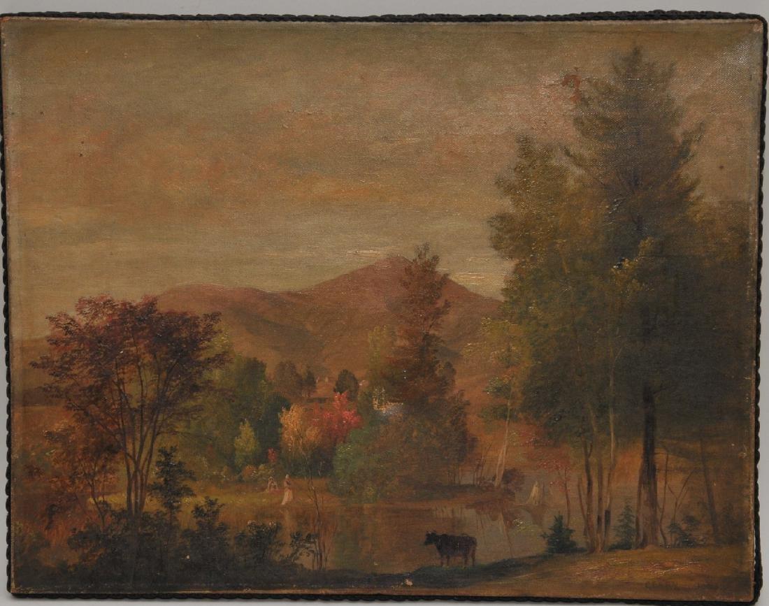 Samuel L. Gerry. New Hampshire 1853 landscape. Mt.