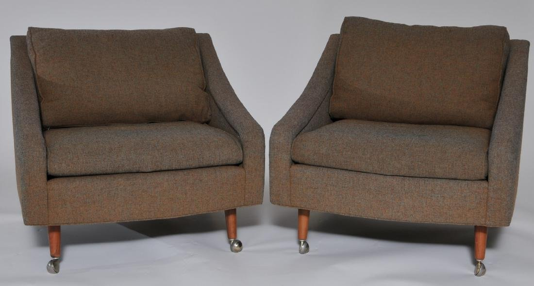 Pair of Thayer Coggin Milo Baughman upholstered lounge