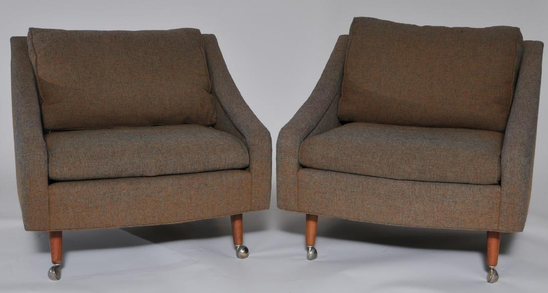 Pair of Thayer Coggin Milo Baughman upholstered lounge