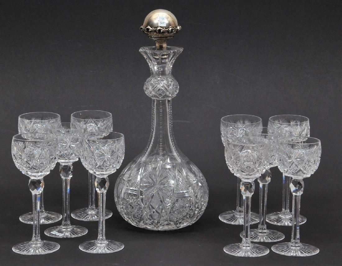 American Brilliant Cut Glass eleven piece fine quality