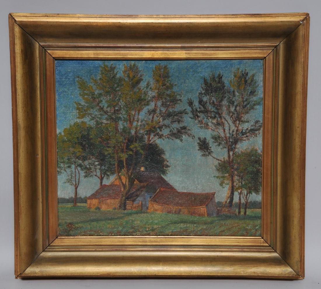 Martin Kitz. Poland. Landscape with house and barns.
