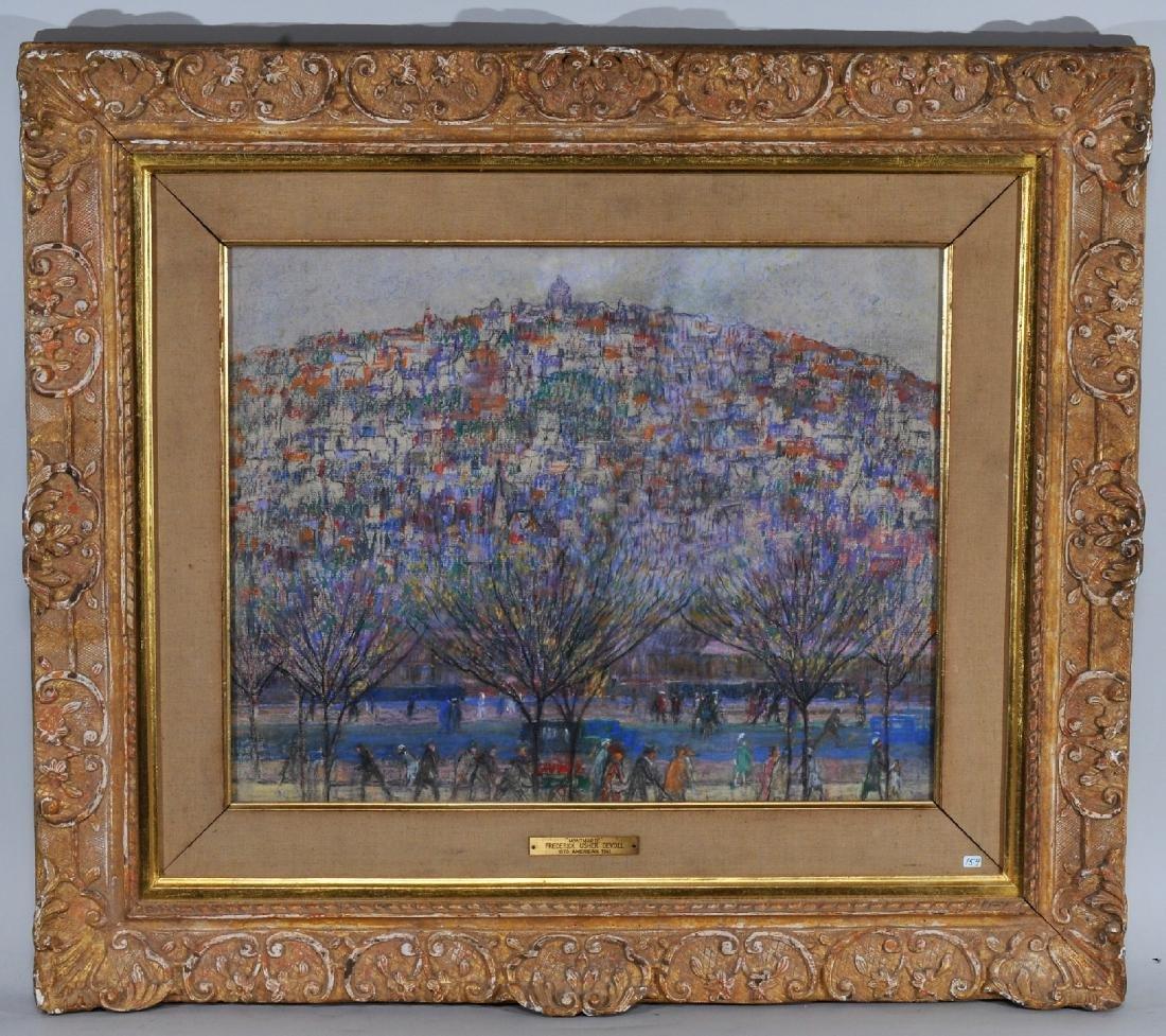 "Frederick Usher Devoll. Pastel painting. ""Montmarte"""
