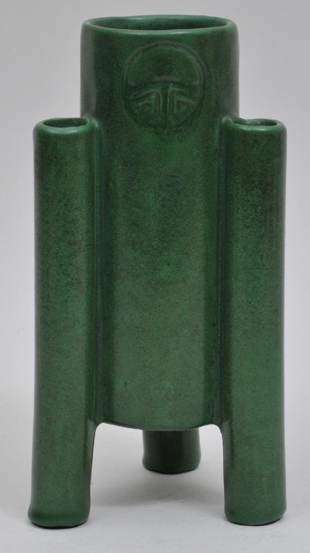 Weller Art Pottery green buttrice for, Futura style