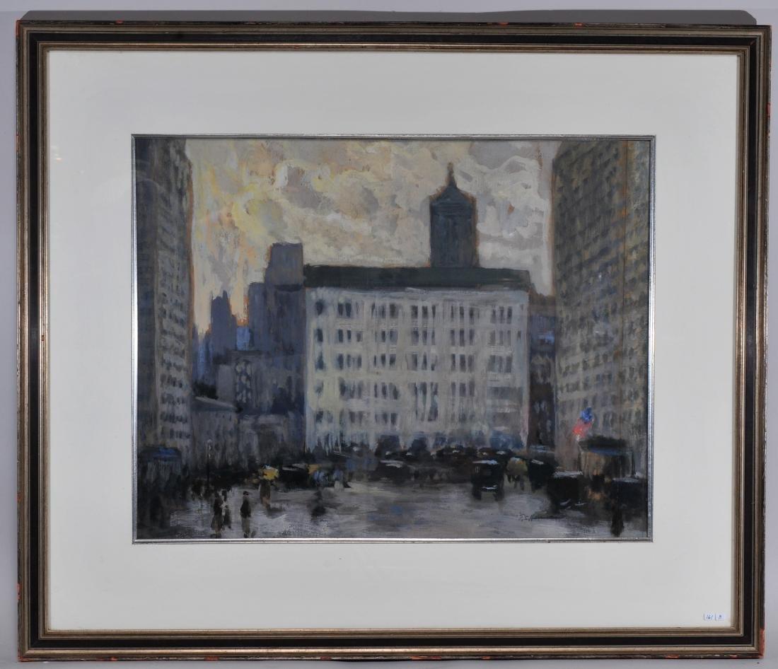 "Frank Simon Hermann. Gouache painting. ""59th St. and"