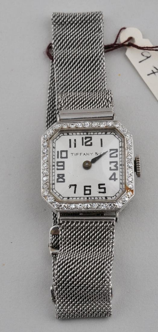 Tiffany & Co. Diamond mounted platinum ladies wrist