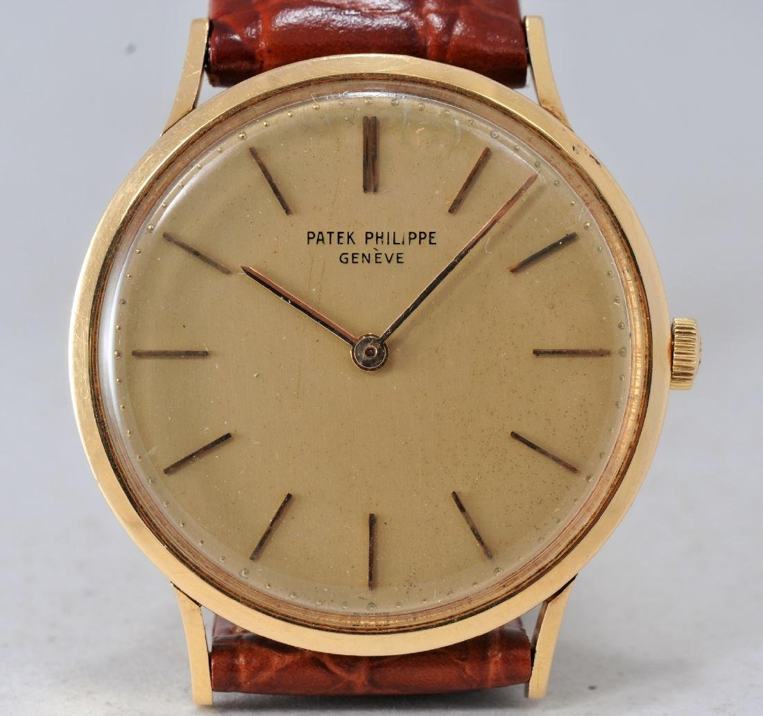 Patek Phillipe ref. 3484 18k yellow gold wristwatch.