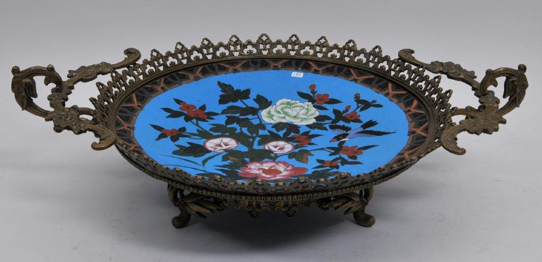 19th  century bronze mounted Japanese Cloisonné