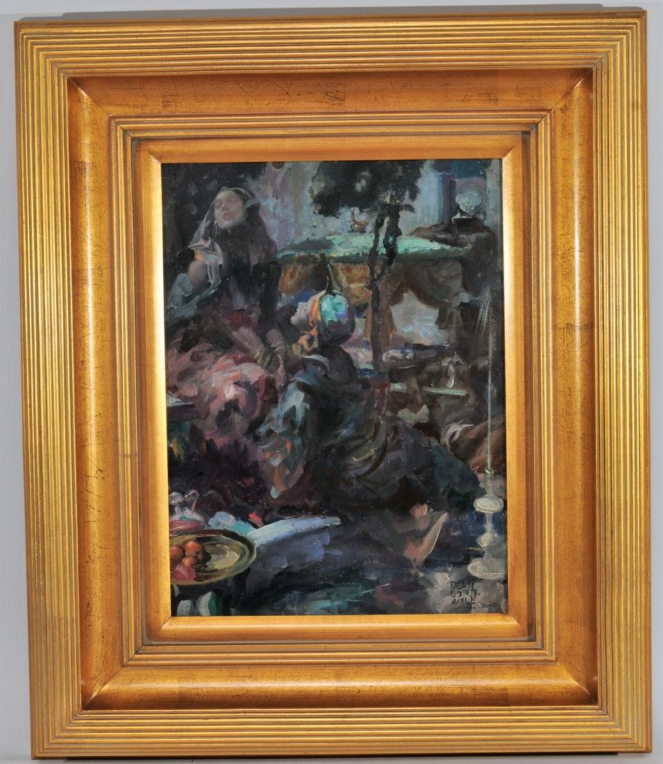 Dean Cornwell. Orientalist scene Illustration depicting