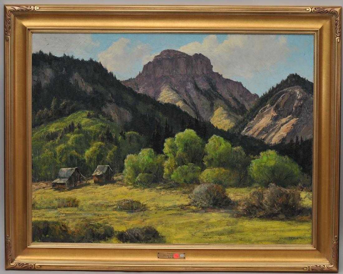 "Bill Freeman. ""Spring Green in Blanco Basin Colorado""."