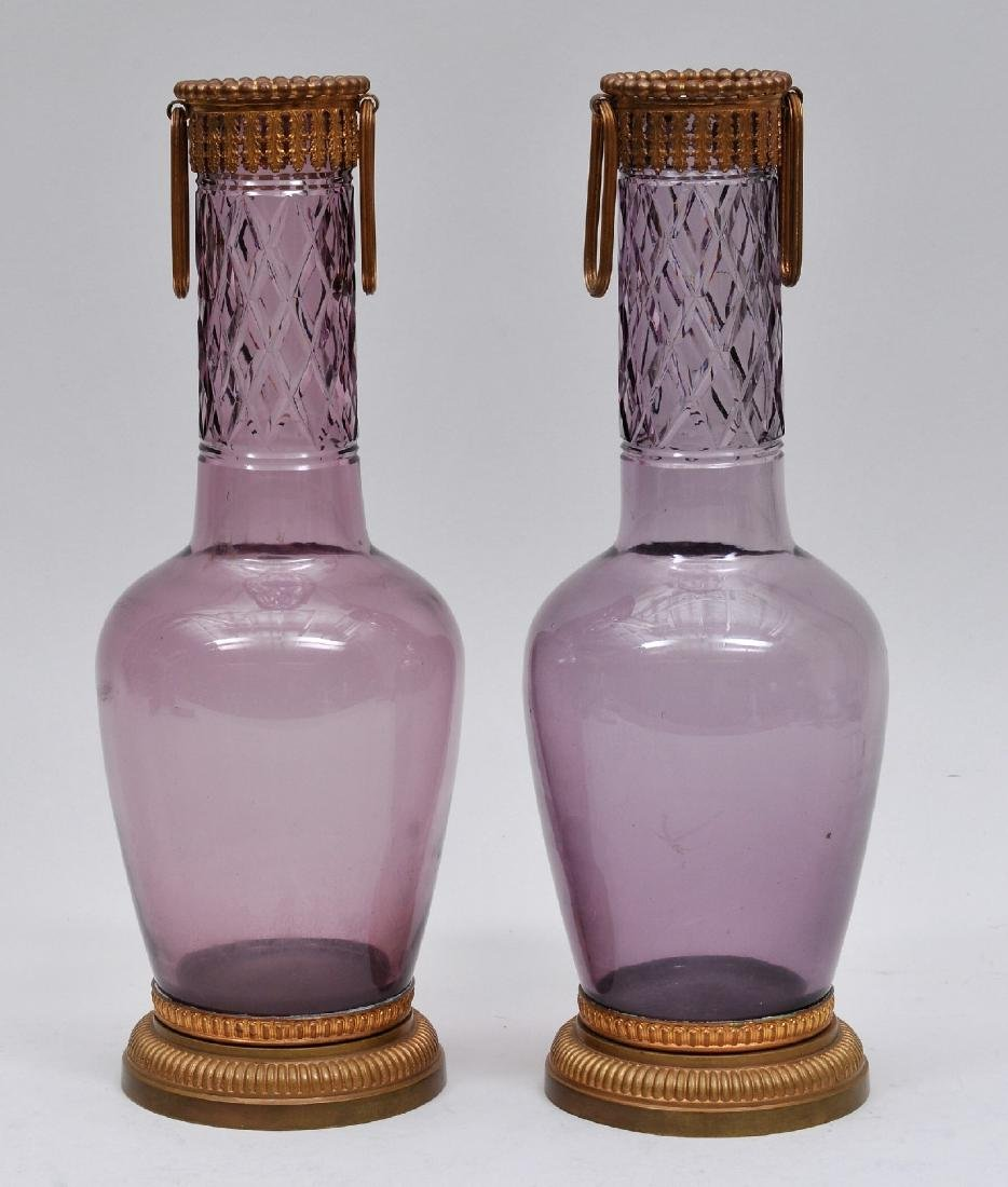 Pair of 19th century Russian or Continental Amethyst