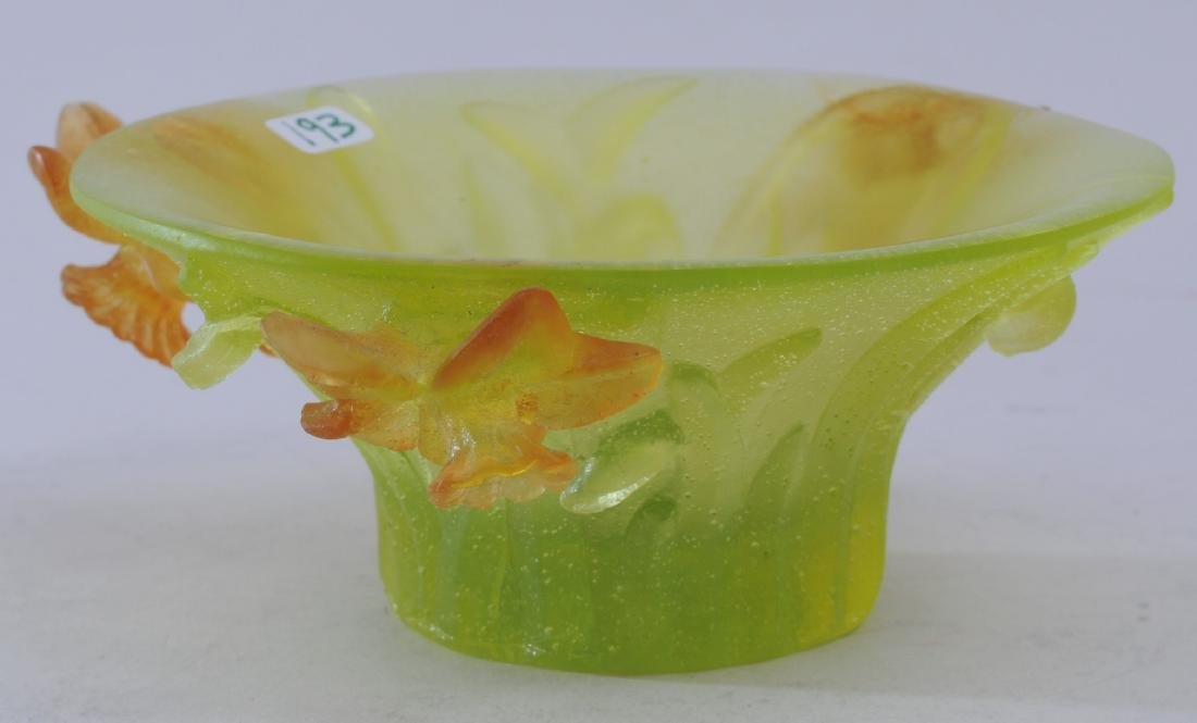 Daum France Pate de Ver style small frosted surface