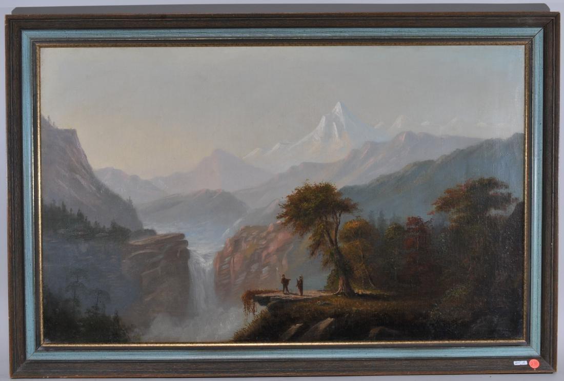 Attributed to Charles Lanman. Large panoramic Western