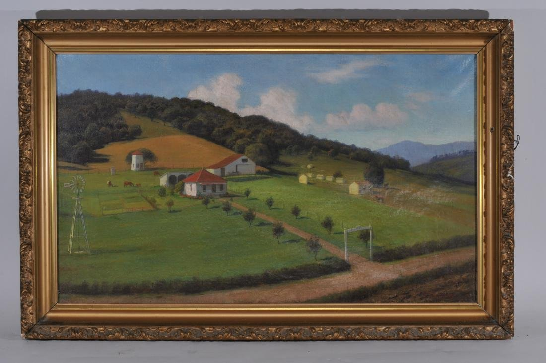 Gordon H. Coutts. California ranch landscape painting.
