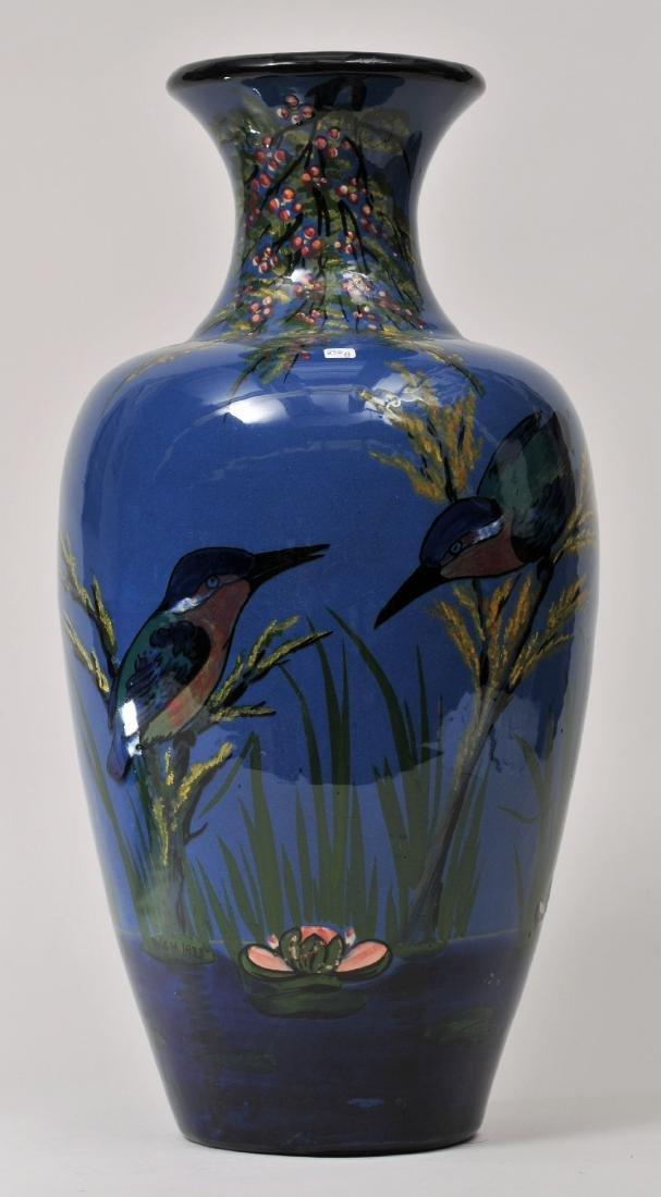 Large Torquay Longpark, England heavy pottery vase.