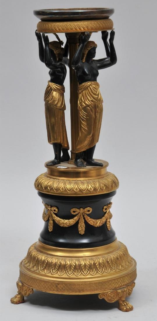 Early 20th century Austrian gilt bronze figural tazza