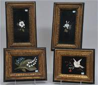 Lot of four late 19th century/early 20th century framed