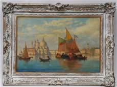Italian School. Early 20th century- 1916 Venetian Canal