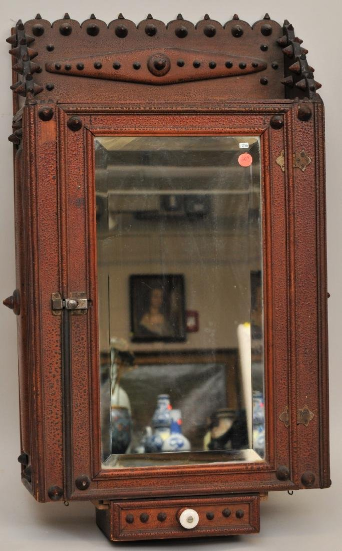 19th/20th century American Tramp Art decorated wood
