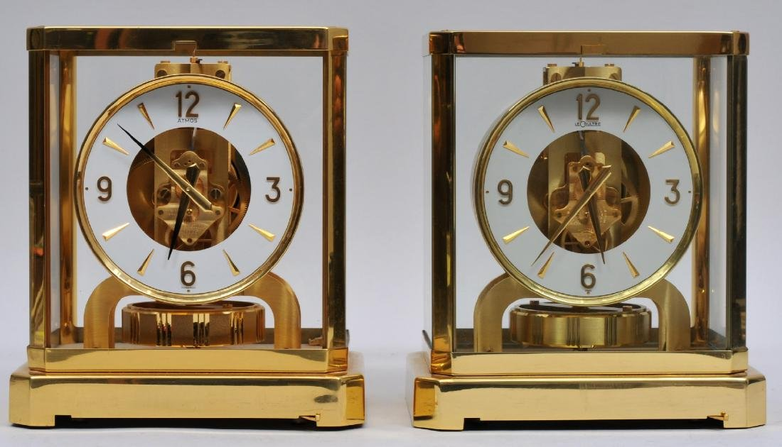 Lot of two. LeCoultre Atmos clocks. (1) Serial Number