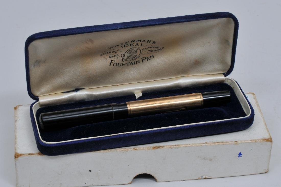Waterman's Ideal Fountain Pen. 375 Gold hallmarks on