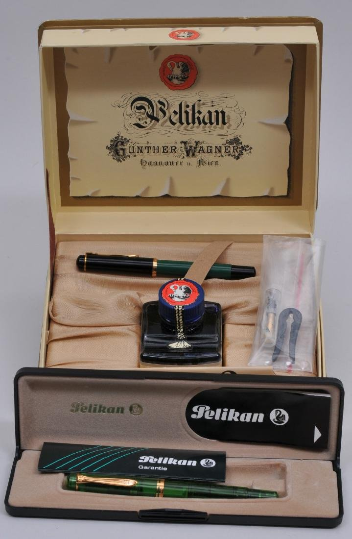 Lot of two. Pelikan Gunther Wagner Fountain Pen boxed
