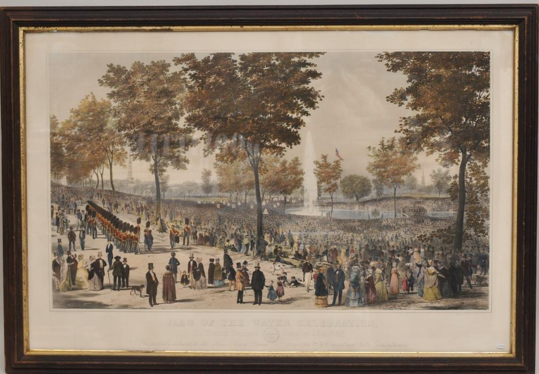 "Original Historic Boston Lithograph. 1848. ""View of the"