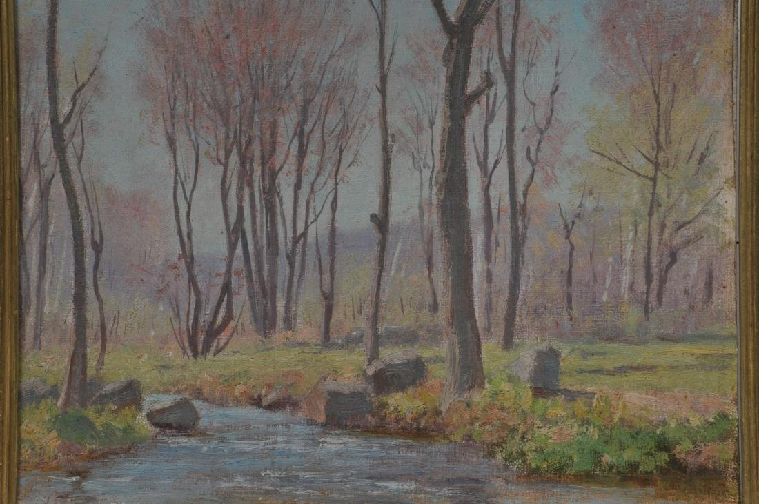 "Dr. F.E. Roberts. ""Brook in Spring"" landscape painting. - 2"