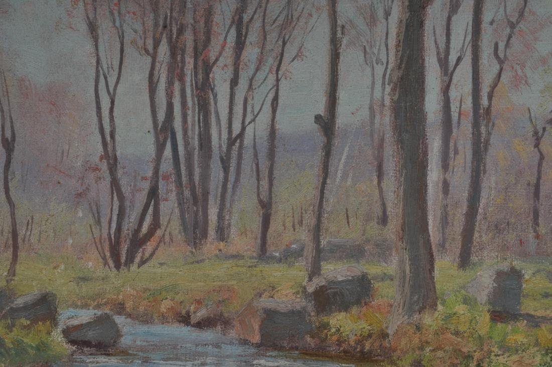 "Dr. F.E. Roberts. ""Brook in Spring"" landscape painting. - 3"