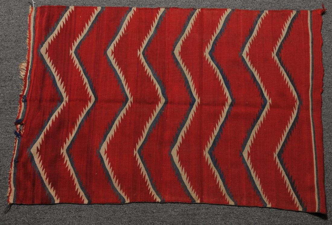 19th century Navajo Childs blanket. Red ground with