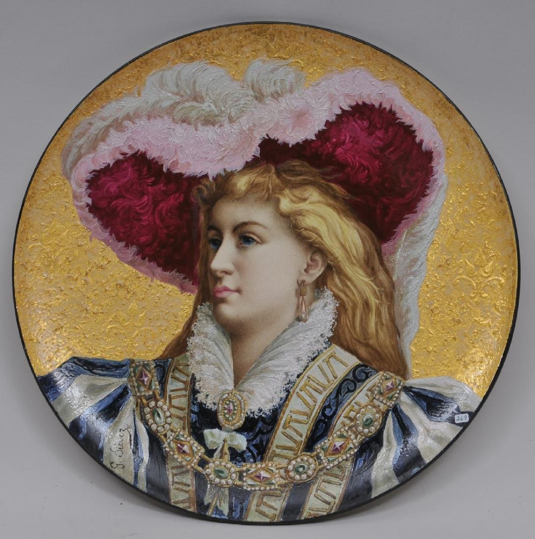 19th century Wedgwood Pottery 1881. Large round plaque.